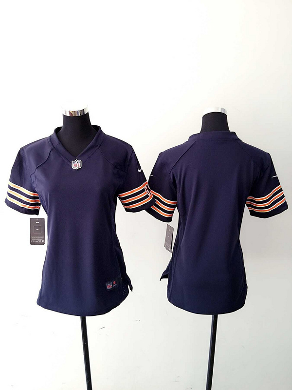 Womens Chicago Bears Blank Blue Nike Jerseys