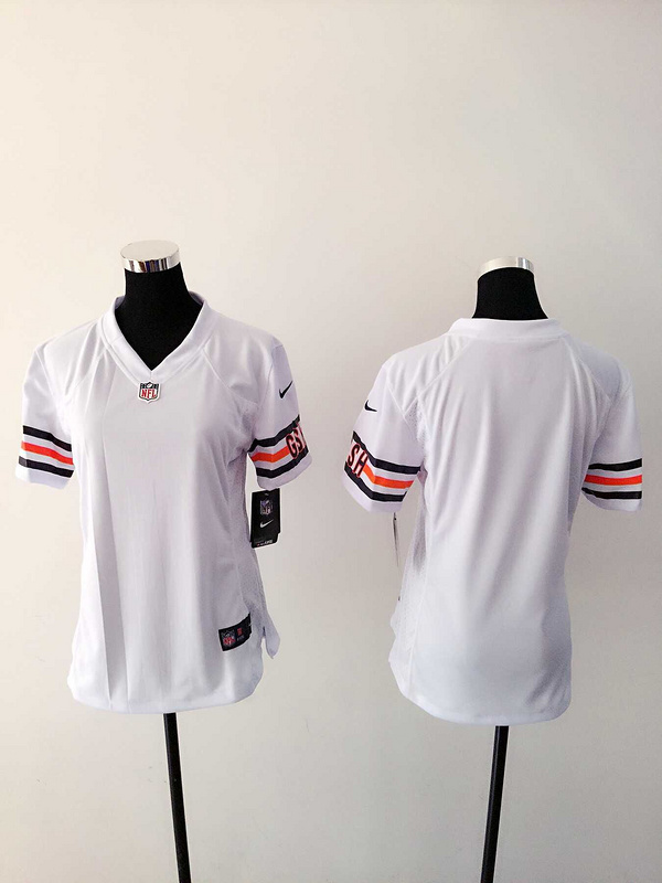 Womens Chicago Bears Blank White Nike Jerseys