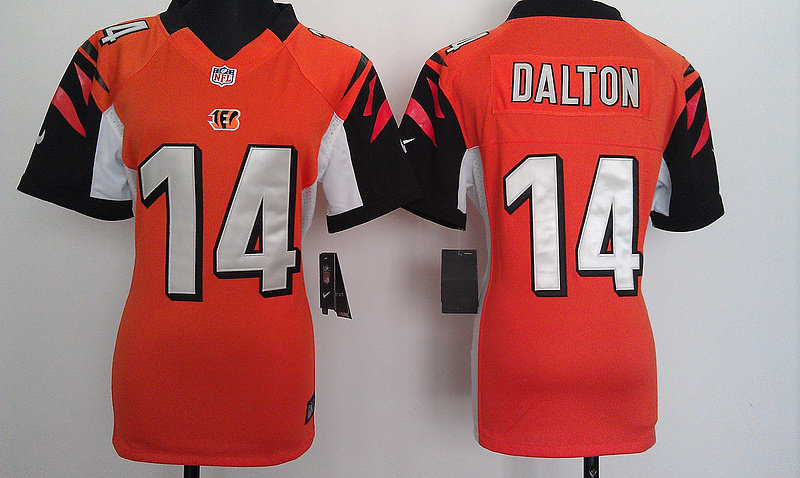 Womens Cincinnati Bengals 14 Dalton Orange Nike Jerseys