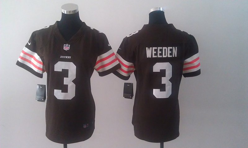 Womens Cleveland Browns 3 Weeden Brown Nike Jerseys