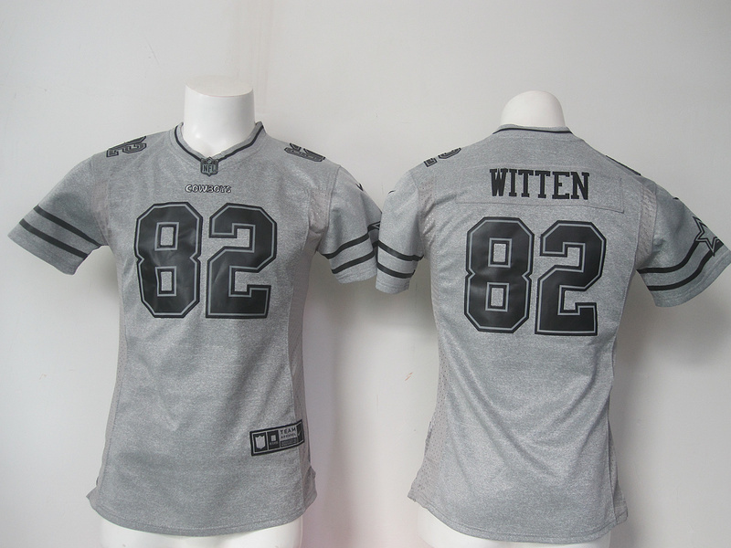 Womens Dallas Cowboys 82 Jason Witten Gray Nike Gridiron Gray Limited Jersey