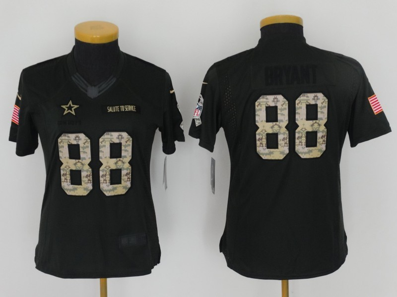 Womens Dallas Cowboys 88 Bryant 2016 Nike Anthracite Salute to Service Limited Jersey