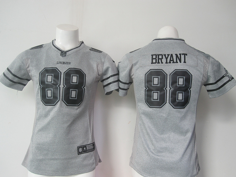 Womens Dallas Cowboys 88 Dez Bryant Gray Nike Gridiron Gray Limited Jersey