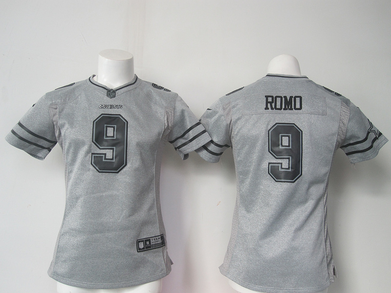 Womens Dallas Cowboys 9 Romo Gray Nike Gridiron Gray Limited Jersey