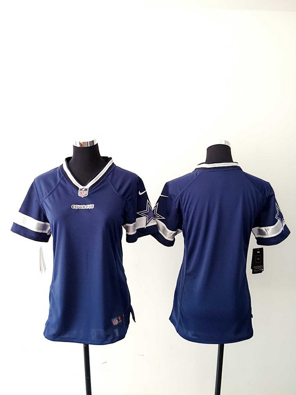 Womens Dallas Cowboys Blank Blue Nike Jerseys