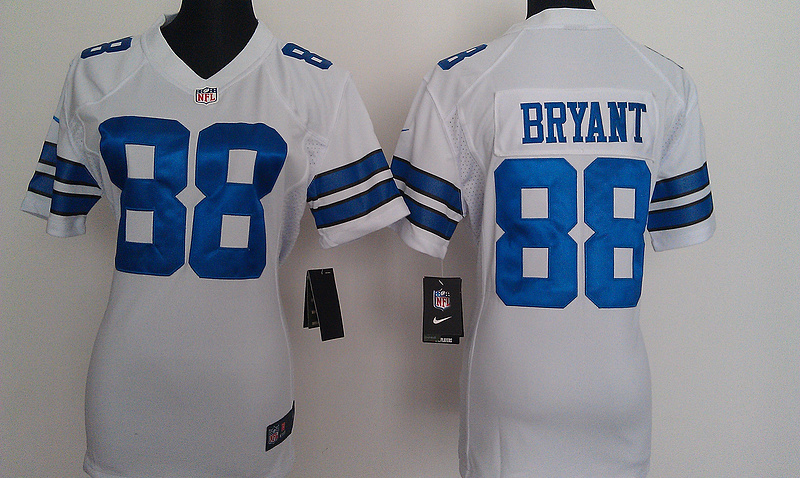 Womens Dallas cowboys 88 Bryant White Nike Jerseys