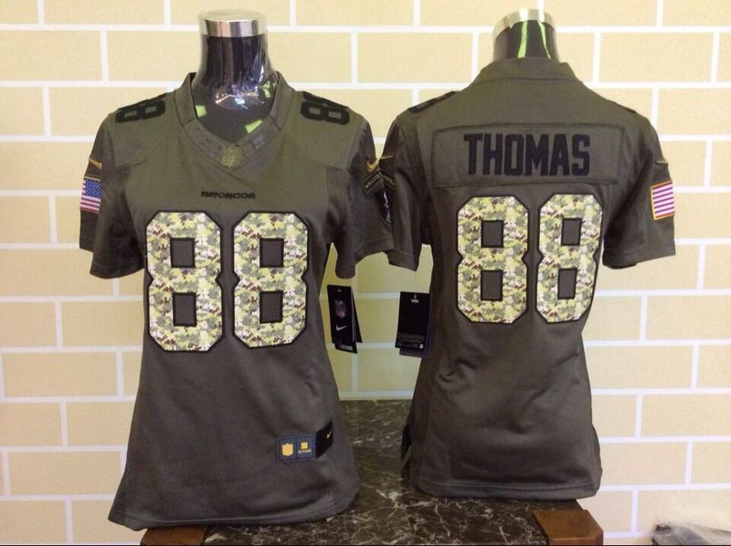 Womens Denver Broncos 88 Thomas Green Nike Salute To Service Limited Jersey