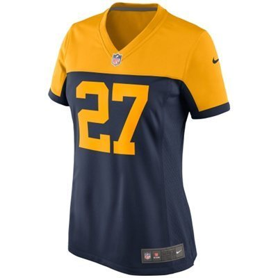 Womens Green Bay Packers 27 Eddie Lacy Navy Alternate Game Jersey