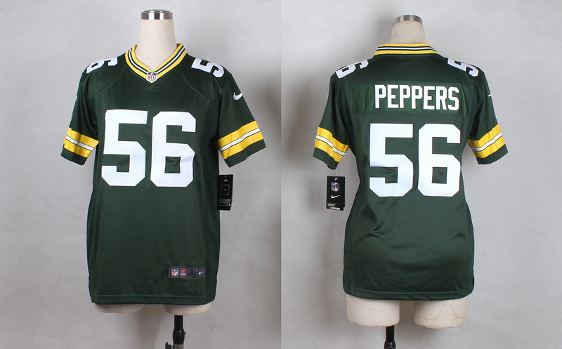 Womens Green Bay Packers 56 Peppers Green 2015 Nike Jerseys