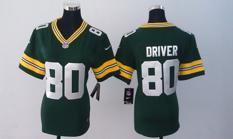 Womens Green Bay Packers 80 Driver Green Nike Jerseys