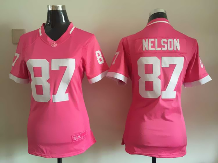 Womens Green Bay Packers 87 Nelson 2015 Pink Bubble Gum Jersey