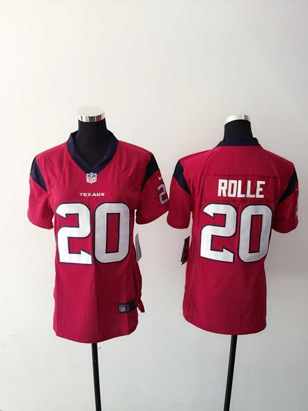 Womens Houston Texans 20 Rolle Red 2015 Nike Jerseys