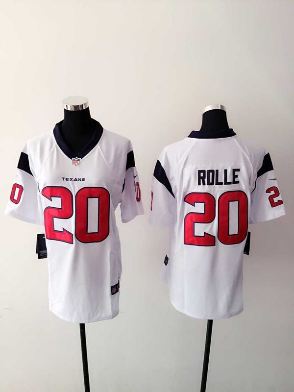 Womens Houston Texans 20 Rolle White 2015 Nike Jerseys