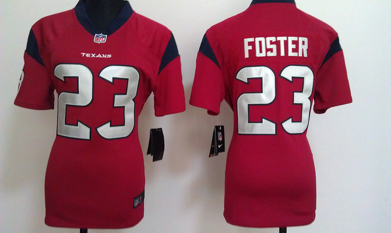 Womens Houston Texans 23 Foster Red Nike Jerseys