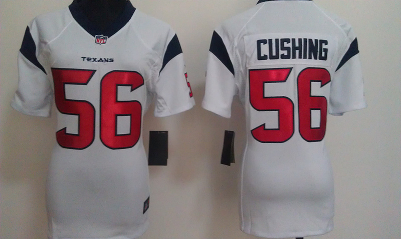 Womens Houston Texans 56 Cushing White Nike Jerseys