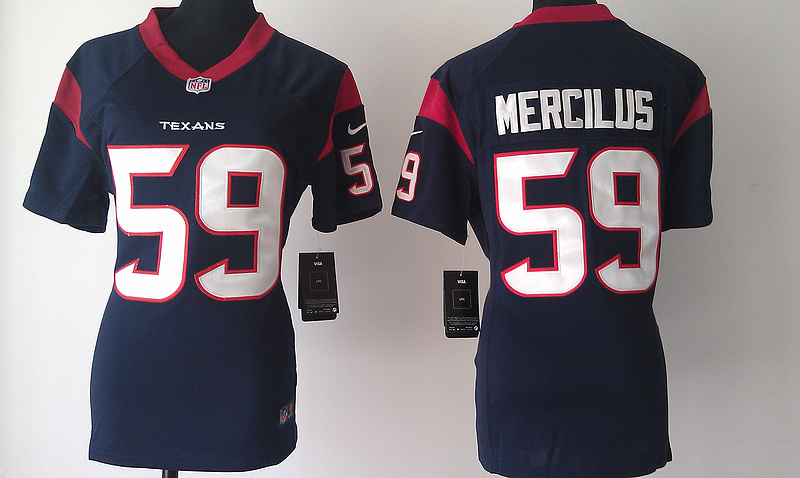 Womens Houston Texans 59 Mercilus Blue Nike Jerseys