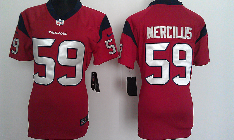 Womens Houston Texans 59 Mercilus Red Nike Jerseys
