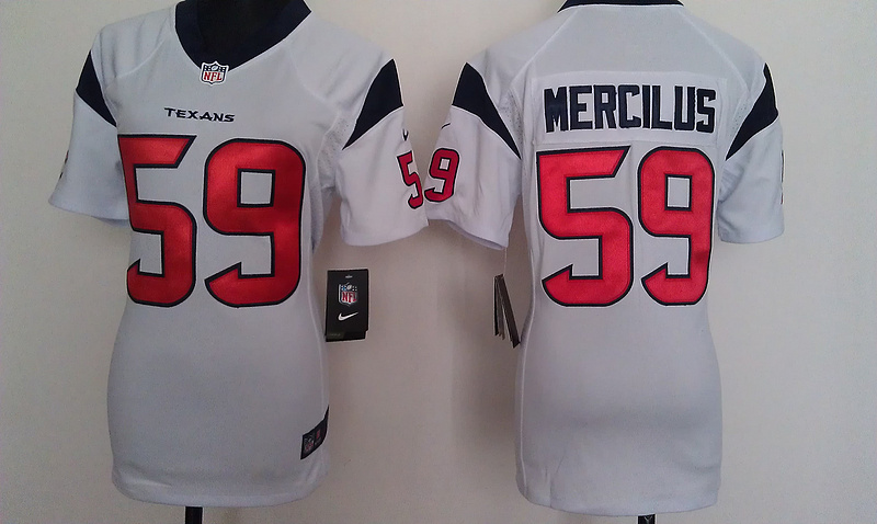 Womens Houston Texans 59 Mercilus White Nike Jerseys