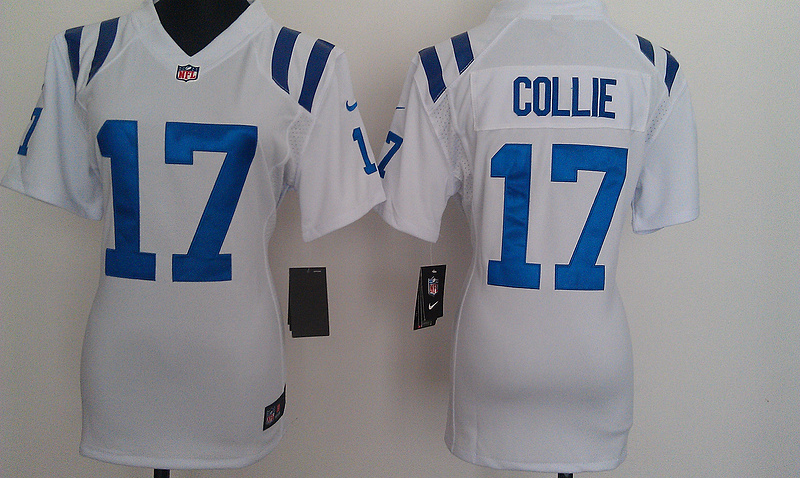 Womens Indianapolis Colts 17 Collie White Nike Jerseys