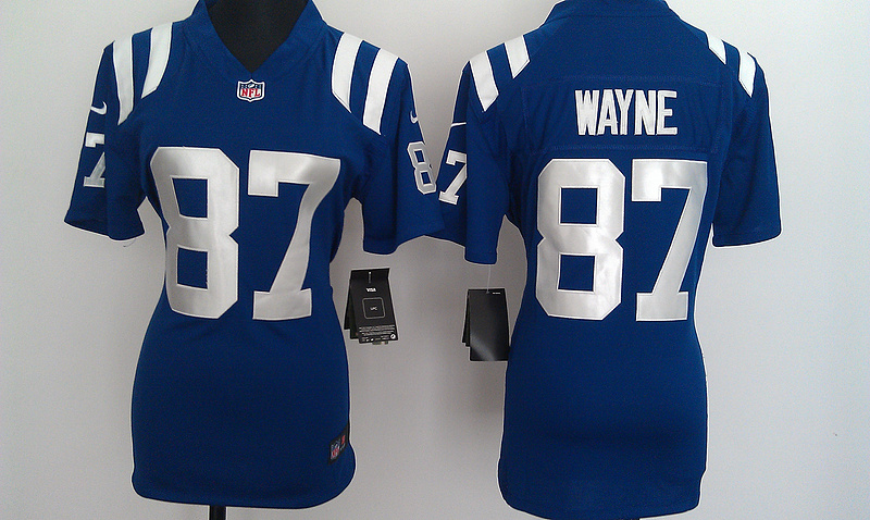 Womens Indianapolis Colts 87 Wayne Blue Nike Jerseys