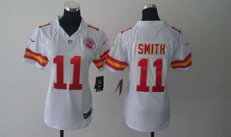 Womens Kansas City Chiefs 11 Alex Smith White Nike Jerseys