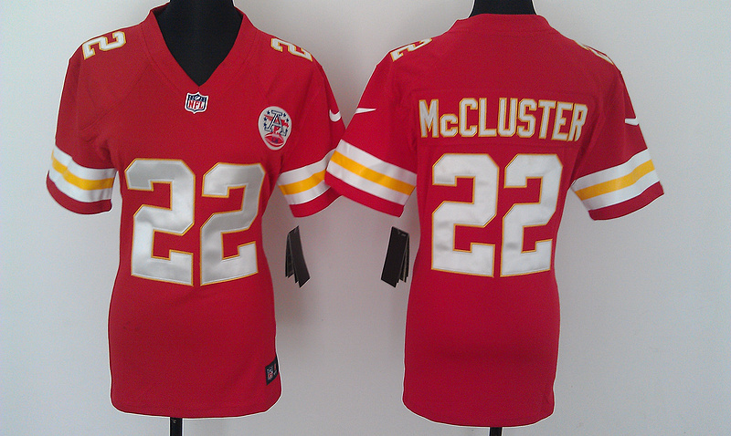 Womens Kansas City Chiefs 22 Mccluster Red Nike Jerseys