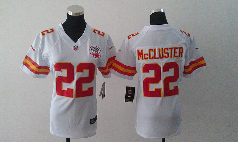 Womens Kansas City Chiefs 22 Mccluster white Nike Jerseys