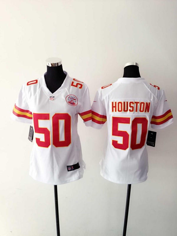 Womens Kansas City Chiefs 50 Justin Houston White Nike Jerseys