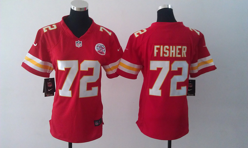 Womens Kansas City Chiefs 72 Fisher Red Nike Jerseys