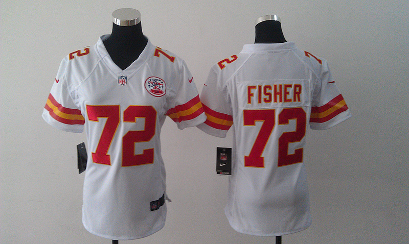 Womens Kansas City Chiefs 72 Fisher white Nike Jerseys