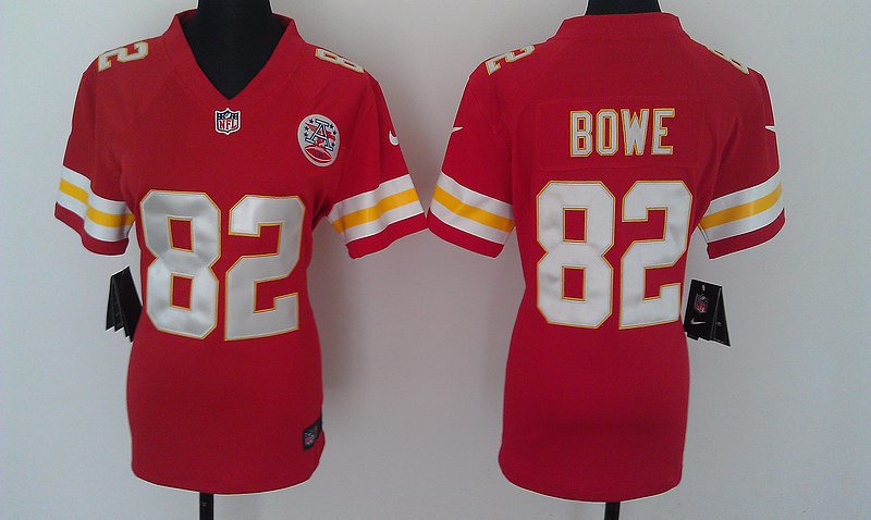 Womens Kansas City Chiefs 82 Bowe Red Nike Jerseys