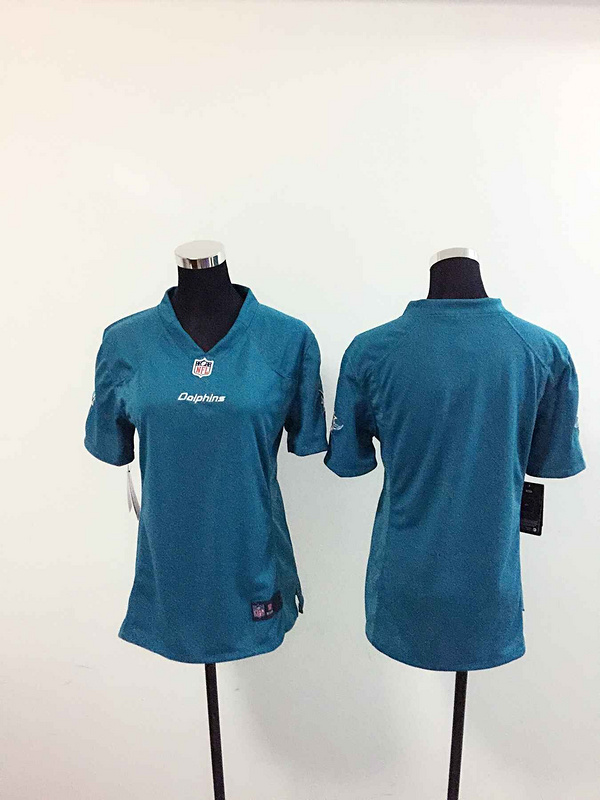 Womens Miami Dolphins Blank Green Nike Jerseys