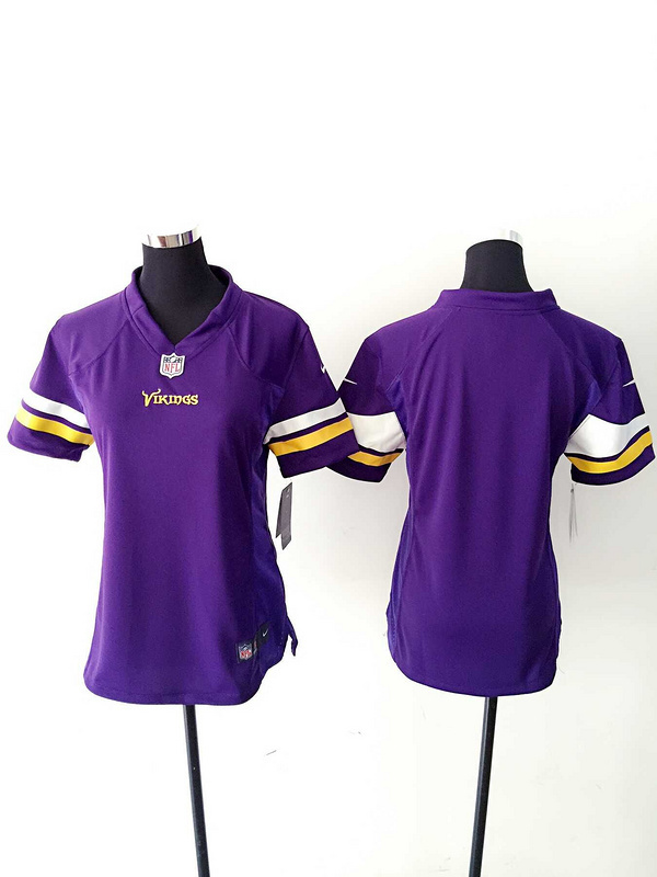 Womens Minnesota Vikings Blank Purple Nike Jerseys