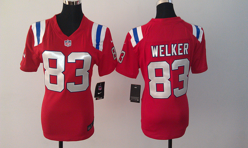Womens New England Patriots 83 Welker Red Nike Jerseys