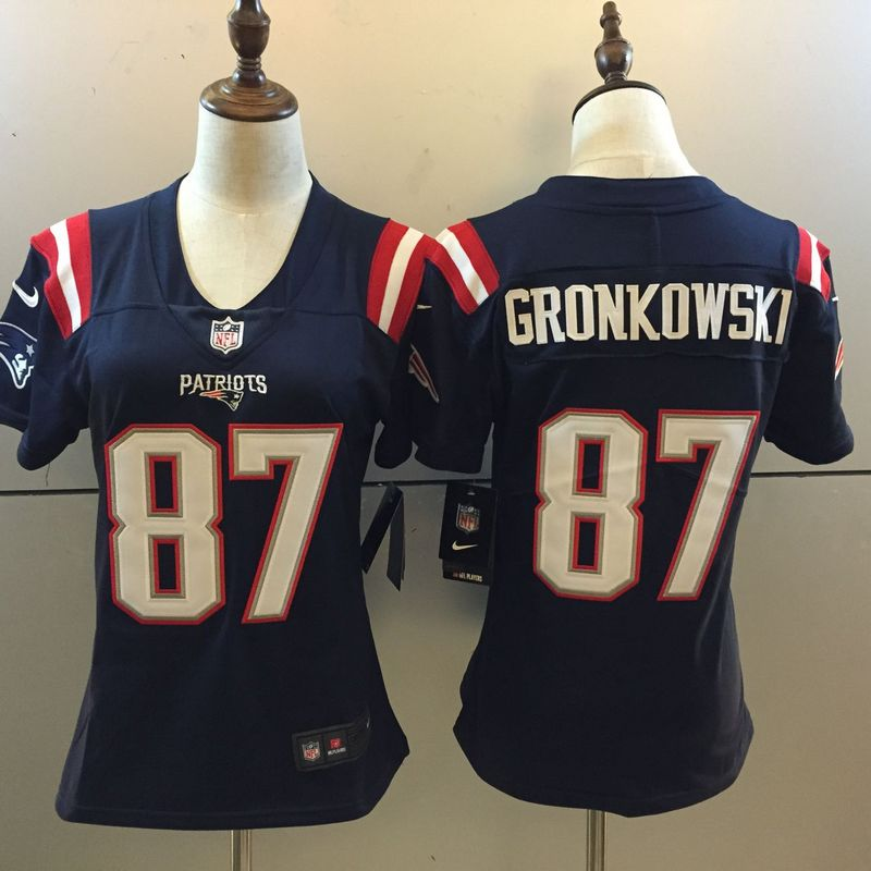 Womens New England Patriots 87 Rob Gronkowski Rush Limited Jersey