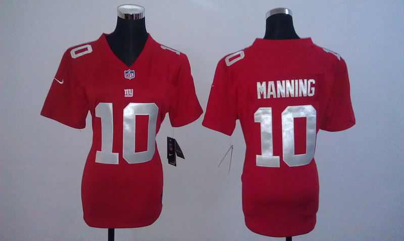 Womens New York Giants 10 Manning Red Nike Jerseys