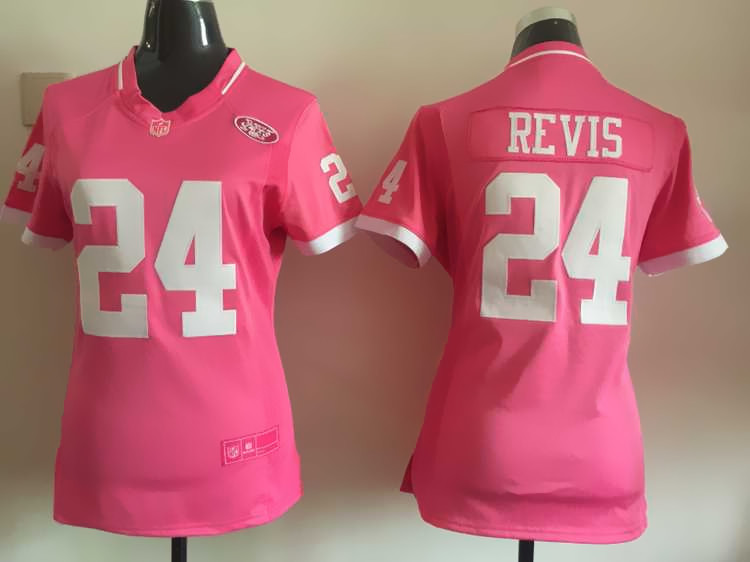 Womens New York Jets 24 Revis 2015 Pink Bubble Gum Jersey