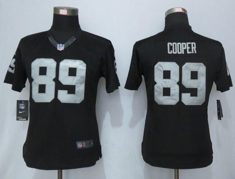 Womens Oakland Raiders 89 Cooper Black Limited New Nike Jersey