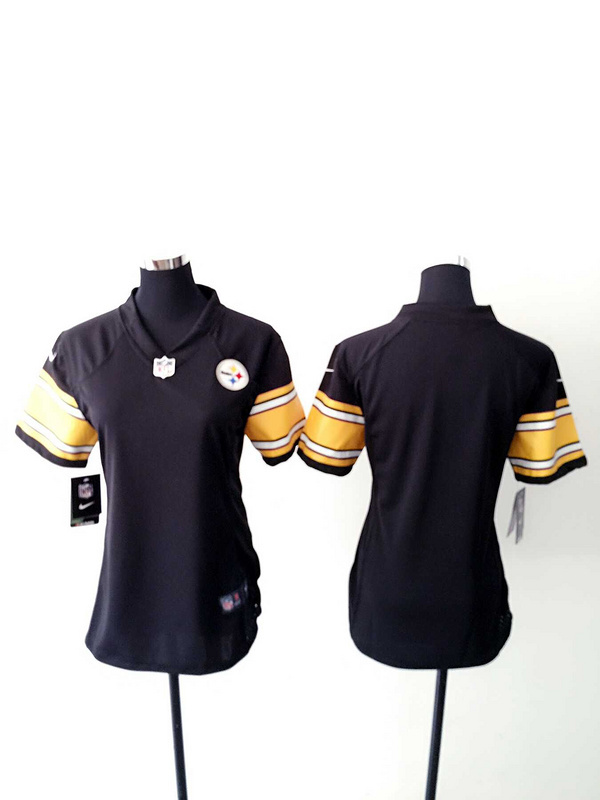 Womens Pittsburgh Steelers Blank Black Nike Jerseys