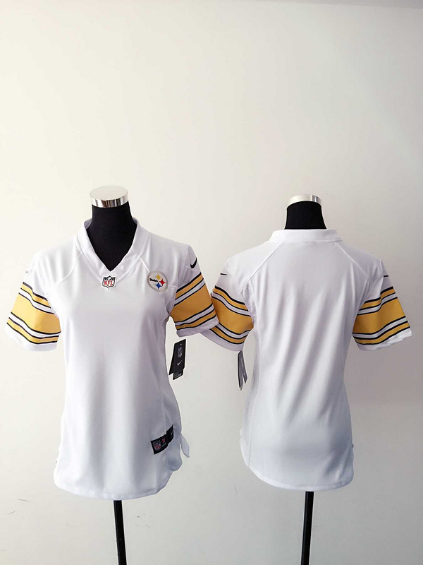 Womens Pittsburgh Steelers Blank White Nike Jerseys