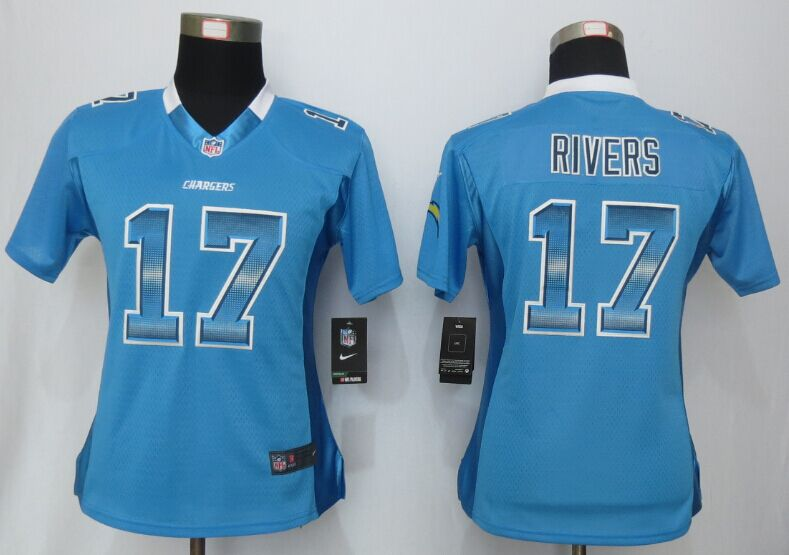 Womens San Diego Charger 17 Rivers Blue Strobe New Nike Elite Jersey