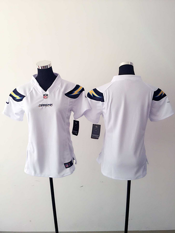 Womens San Diego Charger Blank White Nike Jerseys