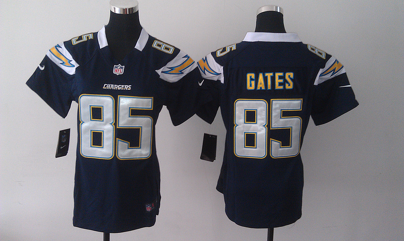 Womens Los Angeles Chargers 85 Antonio Gates Blue Nike Jerseys