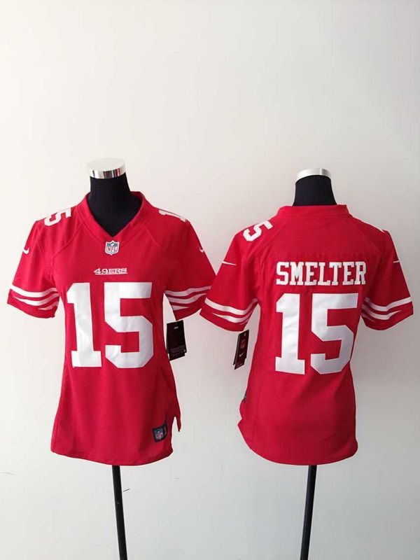 Womens San Francisco 49ers 15 Smelter Red 2015 Nike Jerseys