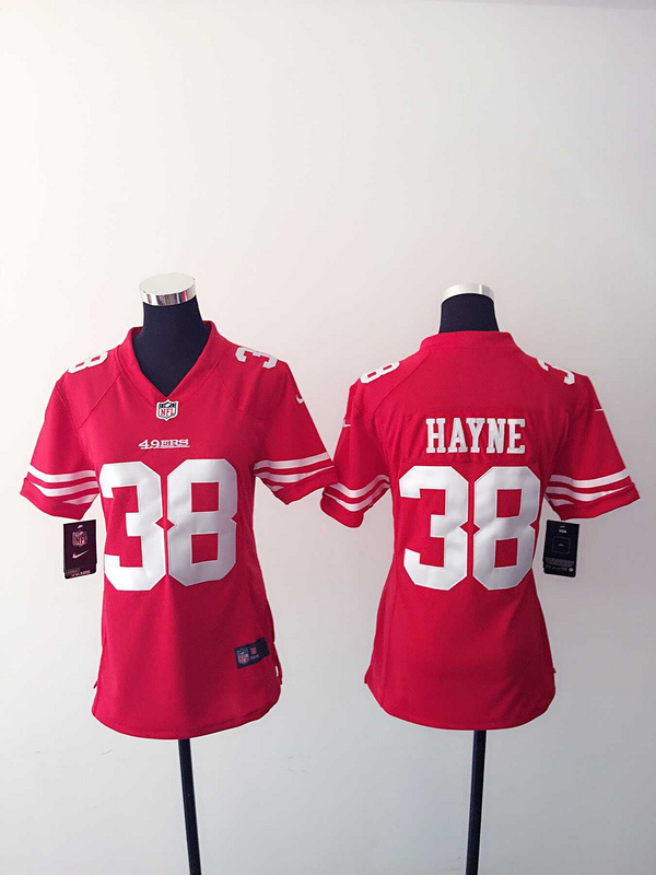 Womens San Francisco 49ers 38 Hayne Red Nike Jerseys