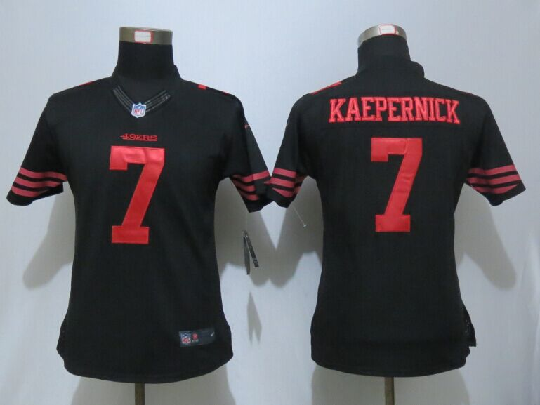 Womens San Francisco 49ers 7 Kaepernick Impact Limited New Nike Black Jersey