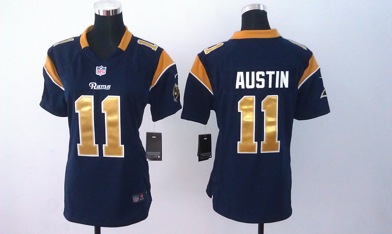 Womens St. Louis Rams 11 Austin Blue Nike Jerseys