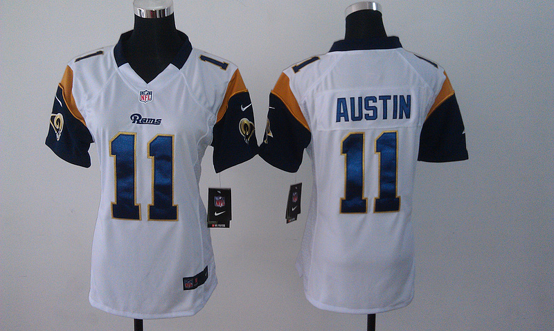 Womens St. Louis Rams 11 Austin White Nike Jerseys