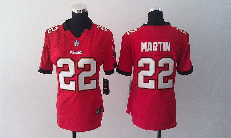 Womens Tampa Bay Buccaneers 22 Doug Martin Red Nike Jersey