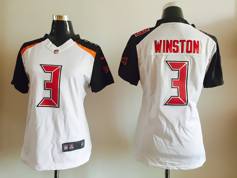 Womens Tampa Bay Buccaneers 3 Winston White Nike Jerseys